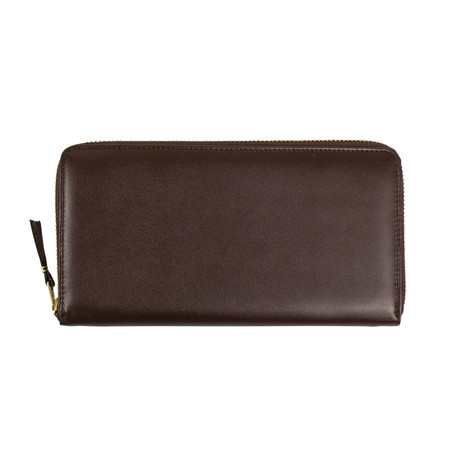 Comme Des Garçons // Leather Zip Around Wallet // Brown
