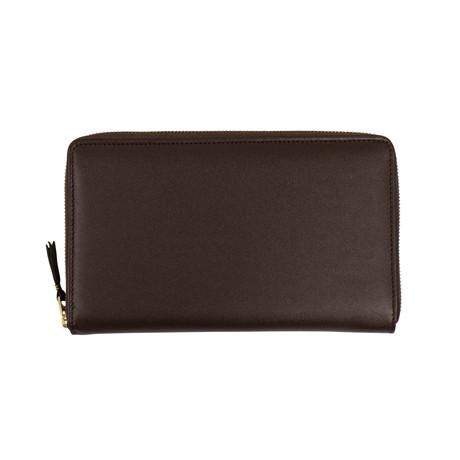 Comme Des Garçons // Leather Travel Organizer Wallet // Brown