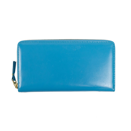 Comme Des Garçons // Leather Zip Around Wallet // Blue
