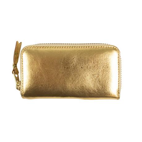 Comme Des Garçons // Leather Mini Wallet Coin Purse // Gold