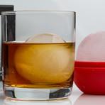 The Franklin Rocks Glass Set + Ice Sphere Molds // Set Of 2