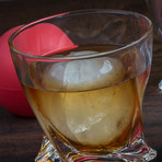 The Charles Rocks Glass Set + Ice Sphere Molds // Set Of 2