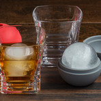 The Jackson Rocks Glass Set + Ice Sphere Molds // Set Of 2