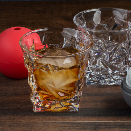 The Stanley Rocks Glass Set + Ice Sphere Molds // Set Of 2