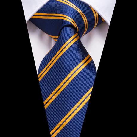 Niles Silk Dress Tie // Blue + Yellow