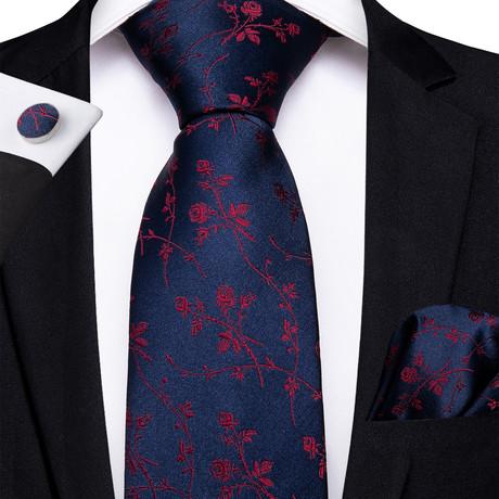 Grosseto Silk Dress Tie // Navy Blue
