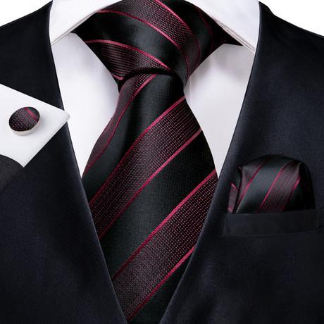 Emily Silk Dress Tie // Black