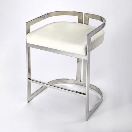 Manneken Nickel Plated Counter Stool