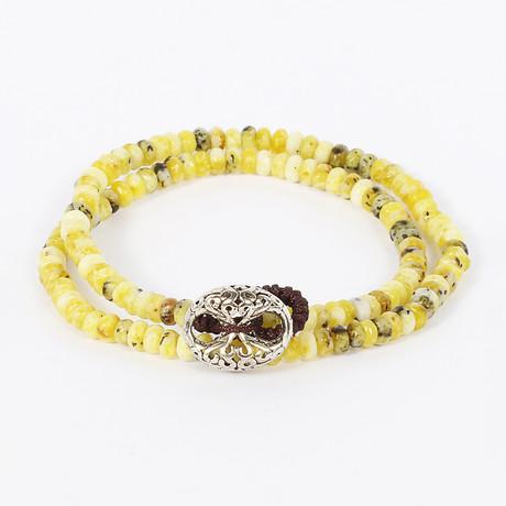Double Wrap Yellow Turquoise Bracelet