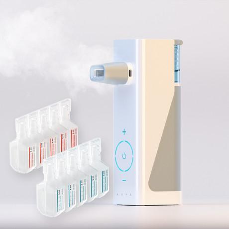 Avya Steam Inhaler + Himalayan + Sea Salt Solutions