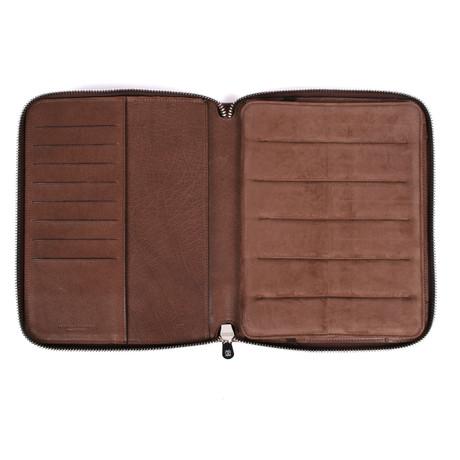 Two Tone iPad Mini Case + Document Holder // Brown