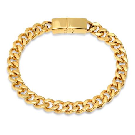 "Cubano Bracelet // Gold Tone (7.5"")"