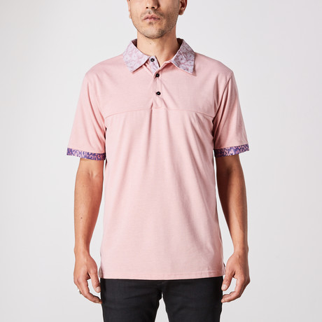 Smith Polo Button Up // Salmon (Small)