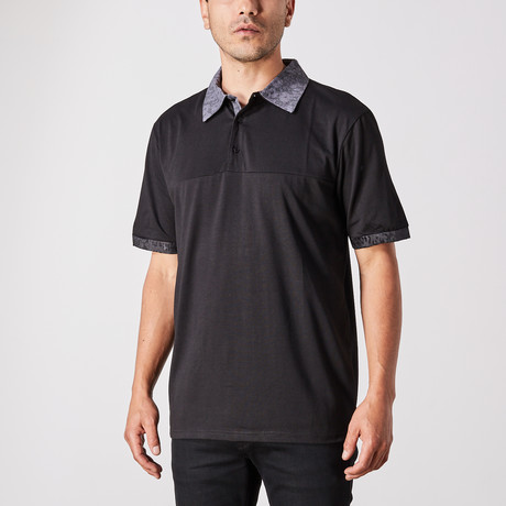 St. Lynn // Norm Polo Button Up // Black (Small)