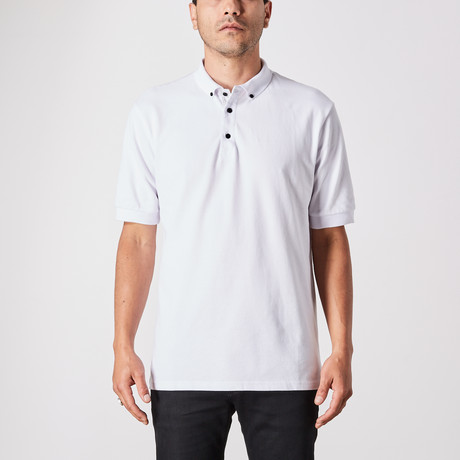 St. Lynn // Angelo Polo Button Up // White (Small)