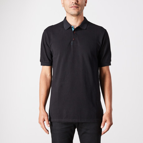 Elia Polo Button Up // Black (Small)