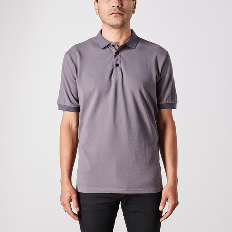 Samuel Polo Button Up // Slate (Small)