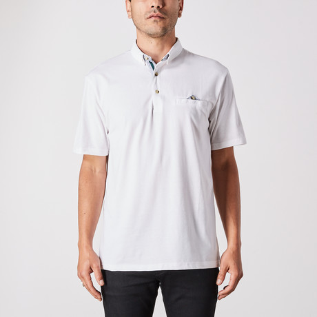 Leon Polo Button Up // White (Small)