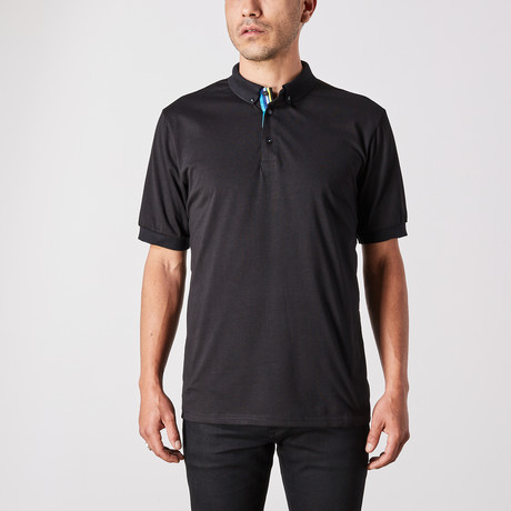 St. Lynn // Manuel Polo Button Up // Black (Small)