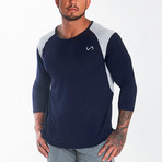 Nexus Performance Modal 3/4 Sleeve Shirt // Deep Navy (S)