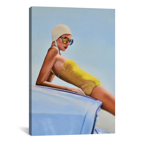 """Moments Before A Swim by Johnny Popkess (18""""W x 26""""H x 0.75""""D)"""