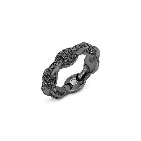 G Link Ring // Black Onyx Pave (6)