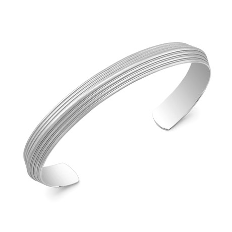 Blade Striped Cuff // Silver (Small)