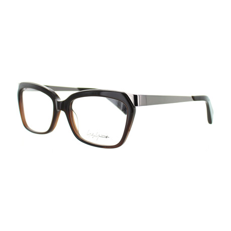 Unisex YY-1014-108 Square Glasses // Brown Fade