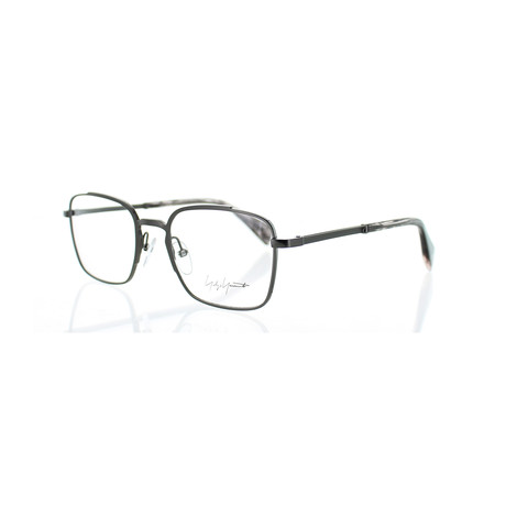 Unisex YY-3006-902 Square Glasses // Dark Gunmetal
