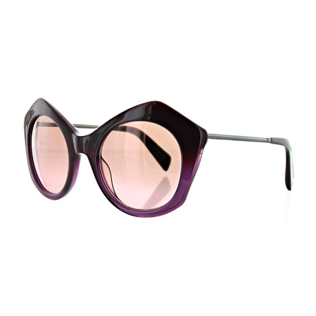 Women's YY-5004-710 Cat Eye Sunglasses // Purple Fade + Pink