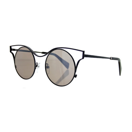 Women's YY-7014-911 Round Sunglasses // Gray + Gray Brown