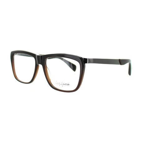 Unisex YY-1015-108 Square Glasses // Brown Fade