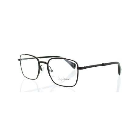 Unisex YY-3006-115 Square Glasses // Dark Brown