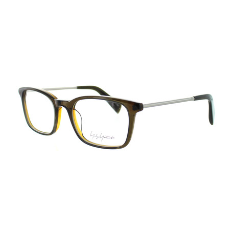 Unisex YY-1007-118 Square Glasses // Brown
