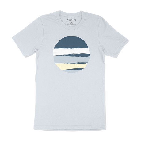 Torn Circle Graphic T-Shirt // Light Blue (S)