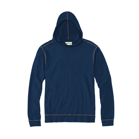 Lightweight Pique Hoodie // Blue (S)