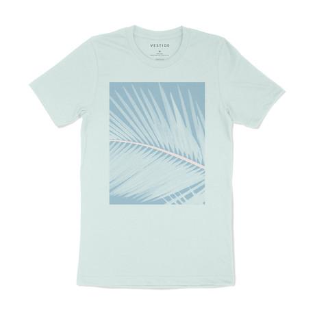 Halftone Leaf Graphic T-Shirt // Light Green (S)