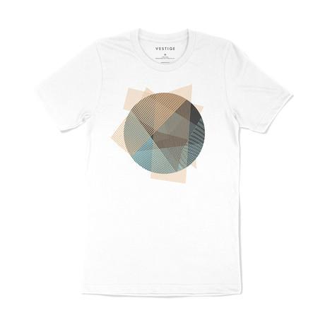 Circle Matrix Graphic T-Shirt // White (S)