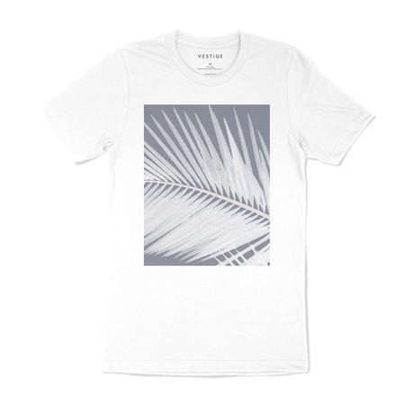 Halftone Leaf Graphic T-Shirt // White (S)