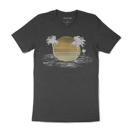 Sunset Isle Graphic T-Shirt // Charcoal (S)