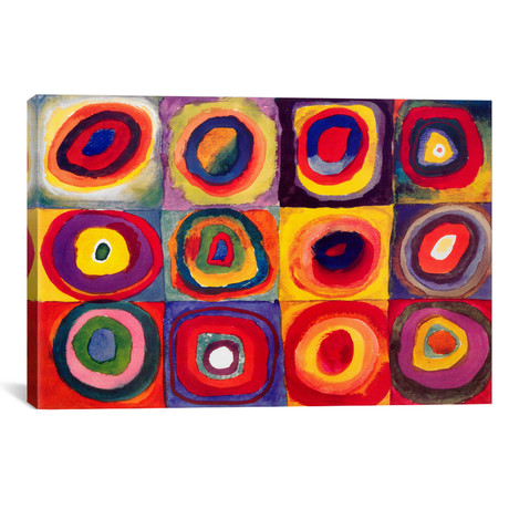 "Squares with Concentric Circles // Wassily Kandinsky (26""W x 18""H x 1.5""D)"