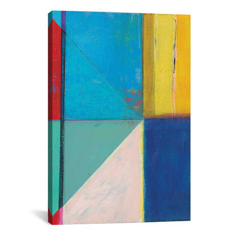 "Colorful Geometrics II // Jodi Fuchs (12""W x 18""H x 0.75""D)"