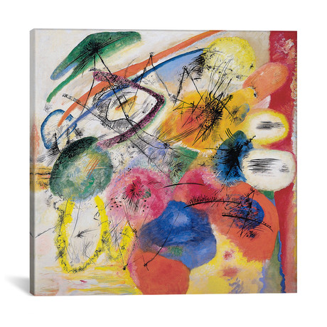 "Black Lines by Wassily Kandinsky (18""W x 18""H x 0.75""D)"