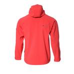 Hooded Cresta Zip-Up Jacket // Red (XL)