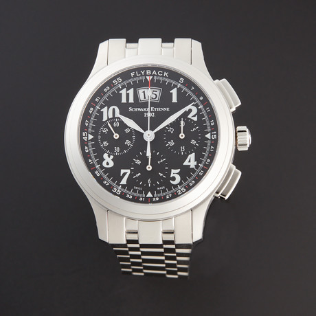 Schwarz Etienne Olympia Flyback Chronograph Automatic // WOL02AJ01SS70AAA