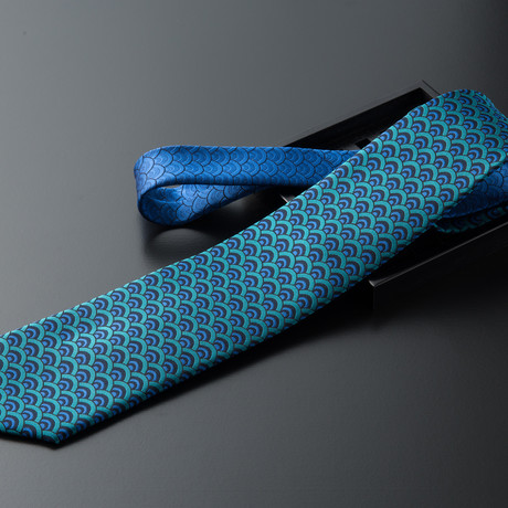 Seigaiha // Peacock + Royal Blue
