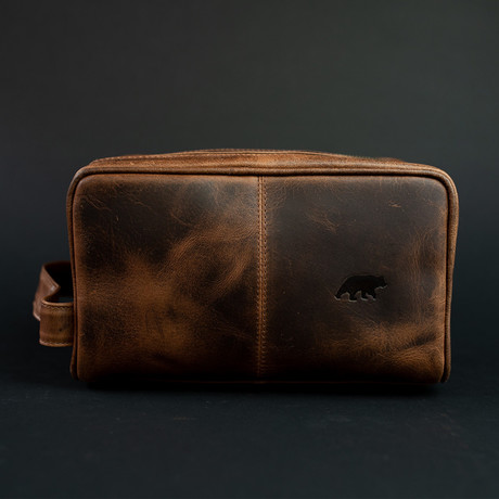 Leather Dopp Bag // Dark Walnut