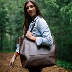 Juneau Leather Tote // Dark Brown