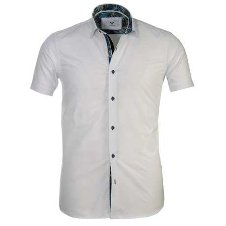 Short Sleeve Button Up II // Solid White (S)