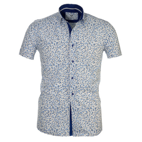 Short Sleeve Button Up II // White + Blue Floral (S)